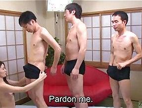 Subtitled Japanese AV star Mona Takei blowjob lineup