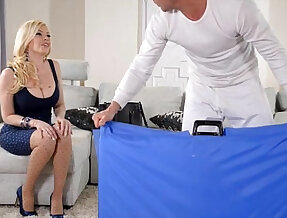 Big Titty Blonde milf gets fucked in all Holes