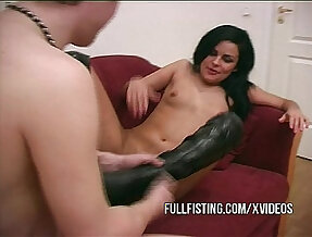 Sexy Girlfriend In Leather Boots Deep Fisted