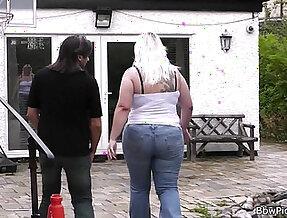 Blonde rides cock