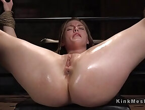 Blonde learning bdsm with electricity