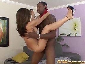 asian girl sucks and rides black hard long hard black cock interracial sex fun