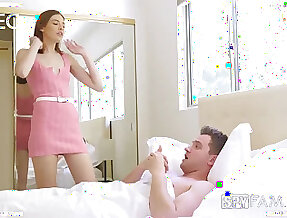 Slutty stepsister Lena Anderson is avid be incumbent on daft quickie with handsome stepbrother