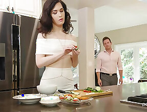 Trimmed pusy wife Evelyn Claire moans with awe from sex