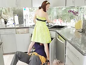 McKenzie Lee lonely housewife gets stuffed with 2 monster cocks