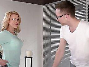 Flirty babe Karina Grand gets more than massage and that girl fucks like a pro
