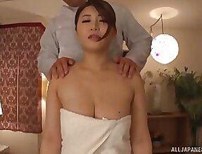 Busty Japanese unreserved Oshikawa Yuri moans during nice fucking