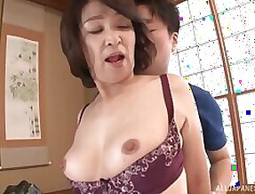 Amateur fucking handy home with amateur Japanese mature Kitamura Toshiyo
