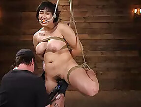 Chubby mature Mia Coach moans during hardcore BDSM torture