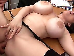 Horny bitches with juicy tits swallow jizz after fucking
