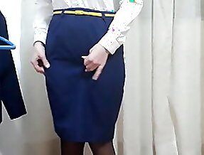 My wife is flight attendant, she getting ready to work (1)