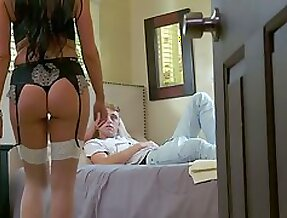 Sex-crazy mommy in stockings Texas Patti seduces her step son