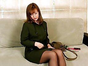 Elegant mature woman Rafaella gets nasty and masturbates pussy